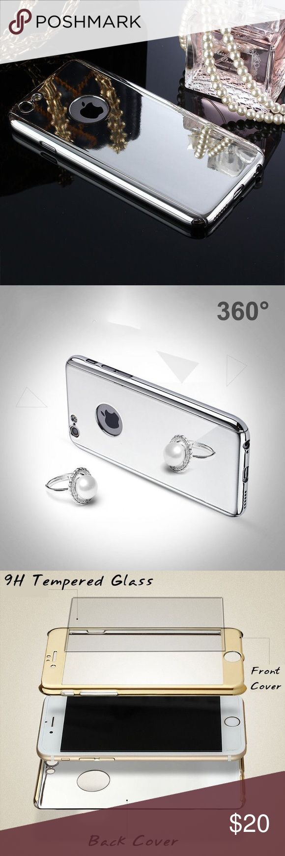 🆕the mirror plated 360° phone case • style name: the mirror plated 360° phone case • color: silver • material: alloy & plated metal/9h tempered glass • high shine mirror case w/ front & back pieces • also includes tempered glass protection for screen & camera • currently stocking for iphone 6/6s - comment to request for a different phone • condition: brand new boutique item ____________________________________________________ ✅ make an offer!     ✅ i bundle! ✅ posh compliant closet ⛔️ no…