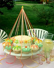 Celebrate May Day with Maypole cupcakes.:)