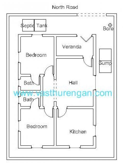 Trendy Design 6 900 Sq Ft House Plans East Facing Vastu Plan For North Facing Plot 1 On Home Jpg 500 North Facing House Indian House Plans Budget House Plans