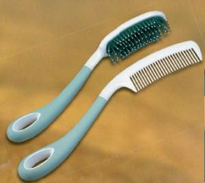 Long Handled Hair Brush Or Comb Perfect For Arthritic Hands