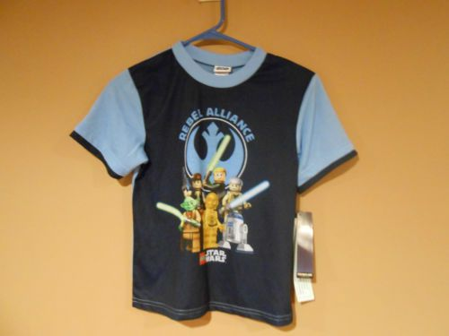 STAR WARS Lego *Rebel Alliance* Blue Tee T-Shirt sz Large children lego star war