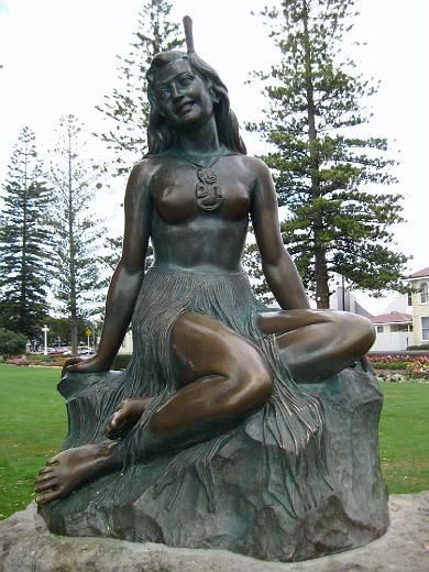 Pania of the reef is a famous story in Maori mythology.