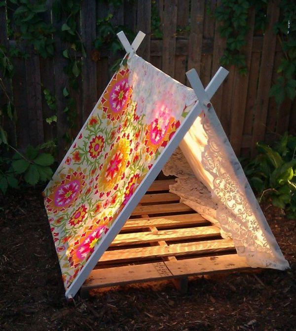 19 spielerische DIY Zelte für Kinder