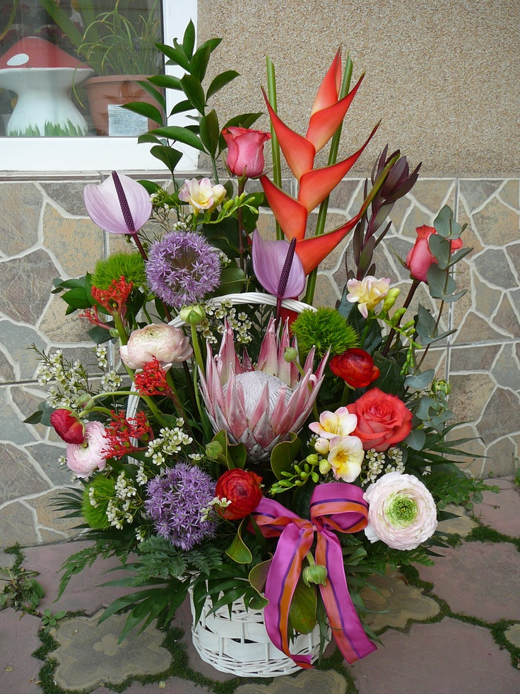 exotic flowers arrangement
