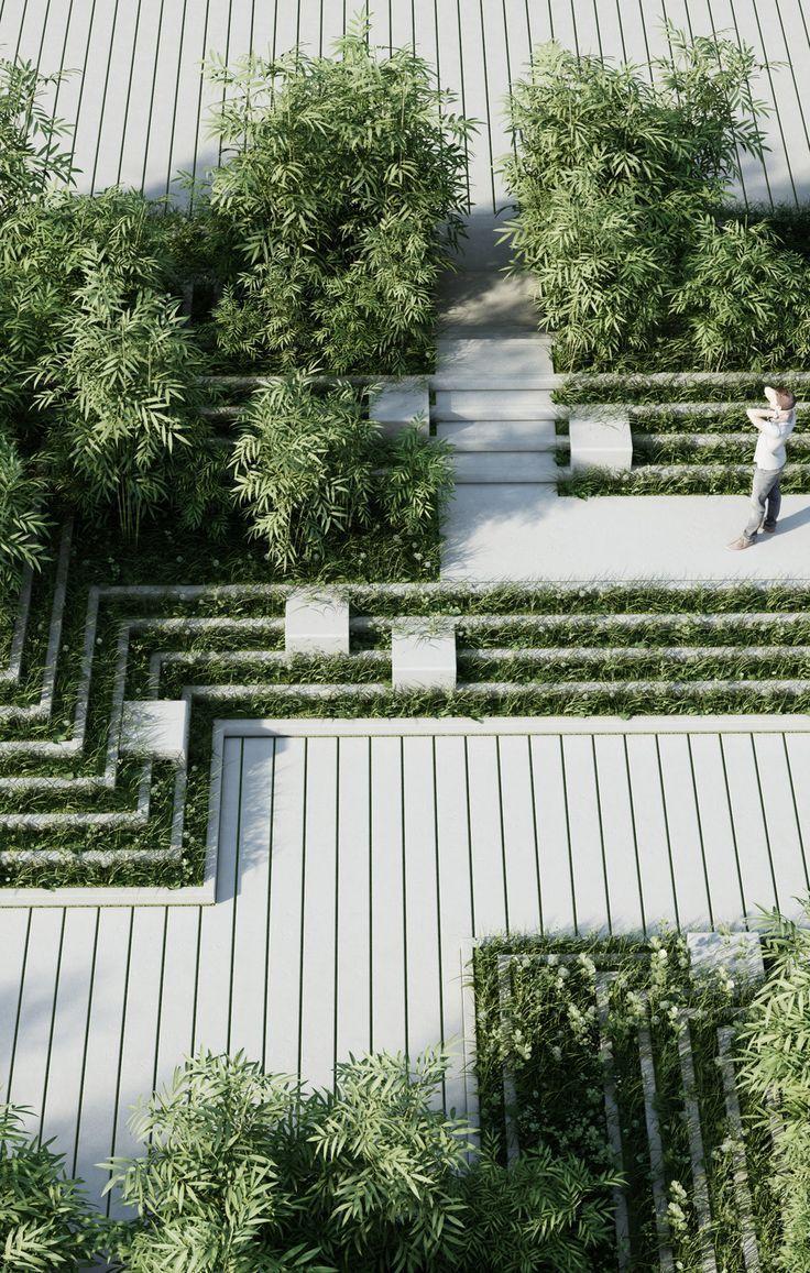 Contemporary Hard Landscaping Magic Breeze Landscape Design By Penda Landscapingarchitecture Landscape Design Urban Landscape Design Garden Architecture