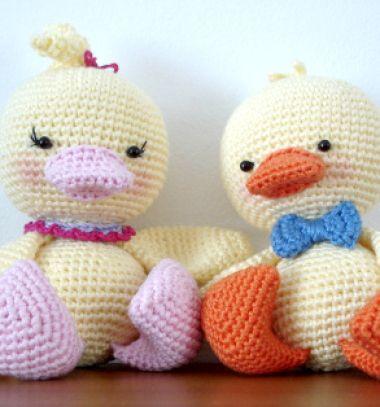 Adorable boy and girl amigurumi duck (free amigurumi pattern) // Kisfiú és kislány amigurumi kacsa (ingyenes horgolásminta) // Mindy - craft tutorial collection