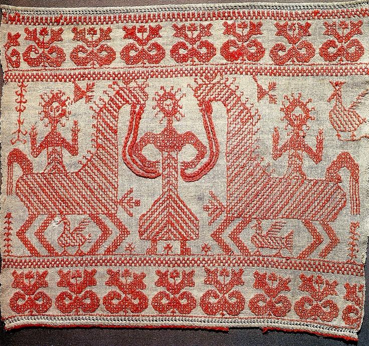 Россия.Конец свадебного полотенца. 1886 год