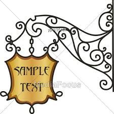 wrought iron signs - Google Search