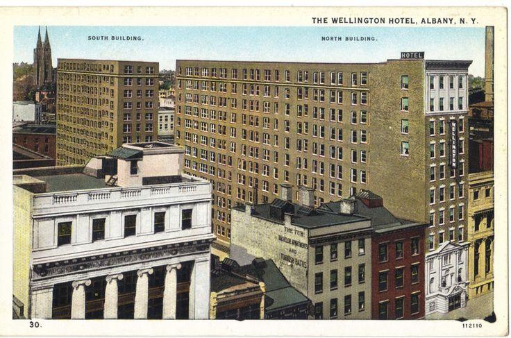 Albany NY Wellington Hotel White Border (c. 19151930) un
