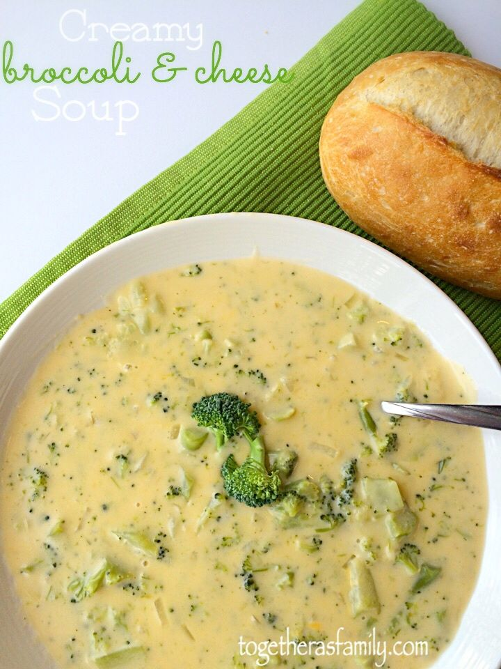 Creamy Broccoli & Cheese Soup- cheesy, creamy, flavorful, and heavy on the broccoli. No flour!