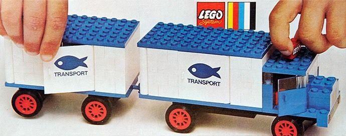 Legoland N°375 Camion Frigorifique Avec Remorque Complet