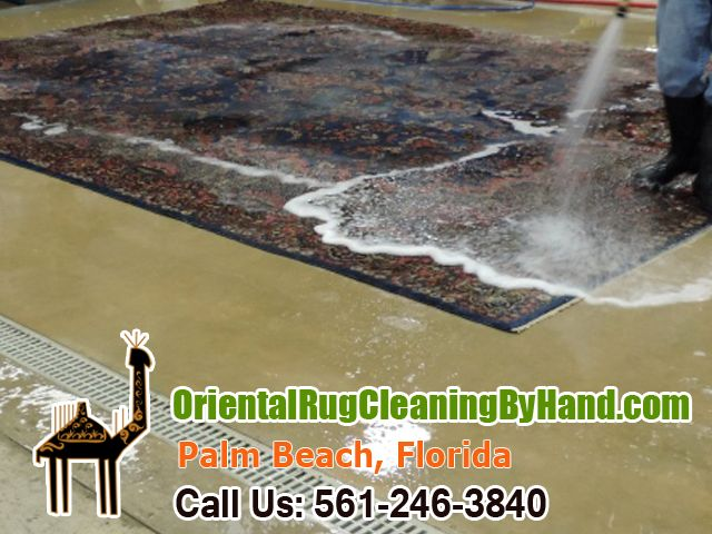Rug Cleaners West Palm Beach: Doodled by Lipstick Stain  We, the rug cleaners West Palm Beach, got a new job to do! We received a call from a young mom living alone with her four year old daughter. The Oriental rug that she received from her grandmother was stained by a lipstick.