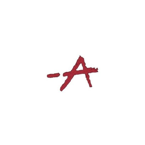 Pretty Little Liars A logo ❤ liked on Polyvore featuring pll and words