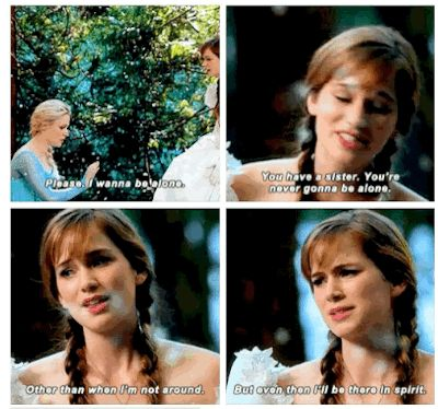 """Anna is appropriately adorable and awkward. 