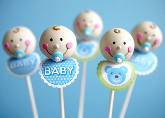 Baby Boy Cake Pops... so cute and you could always make girl pops.