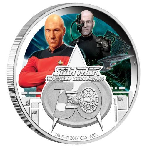 Star Trek: The Next Generation 30th Anniversary 2017 1oz Silver Proof Coin