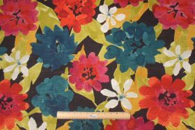 Robert Allen :: Robert Allen Lush Floral Printed Cotton Drapery Fabric in Berry $14.95 per yard - Fabric Guru.com: Fabric, Discount Fabric, ...