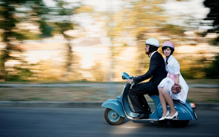 Vespa wedding