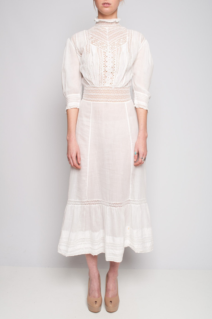 Edwardian Tea Dress with Sheer Details. $124.00, via Etsy.