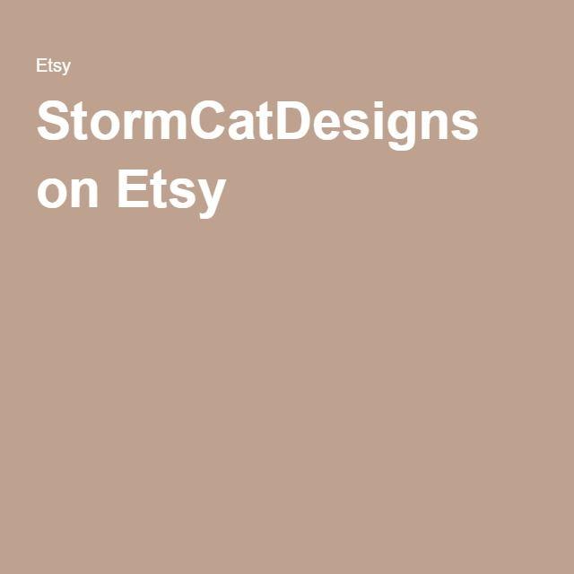 StormCatDesigns on Etsy