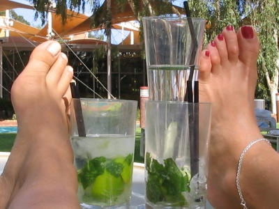 Mojito time, Ayers Rock resort