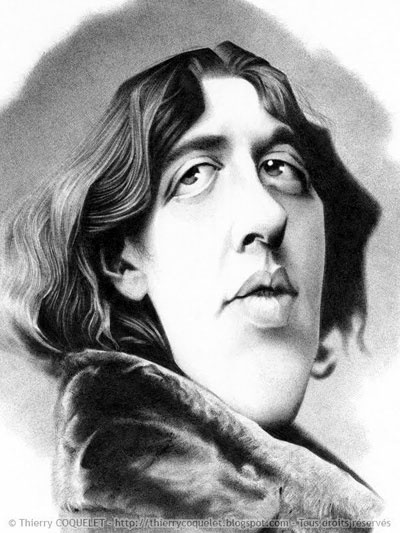 OSCAR  WILDE - Irish Literature - illustration of Thierry Coquelet