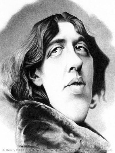 OSCAR  WILDE - Irish Literature - illustration of Thierry Coquelet