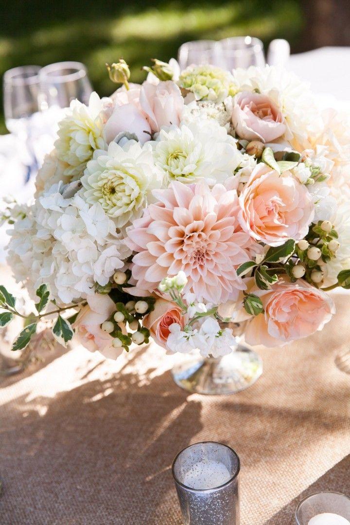 Blushing California Wedding from Elle Jae Photography - wedding centerpiece idea