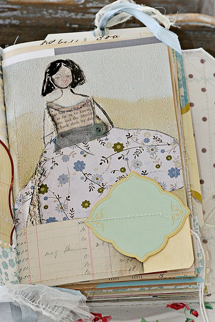 She Art journal page