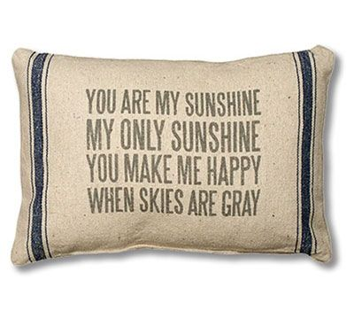 Win A You Are My Sunshine Pillow - Drawing Every Friday
