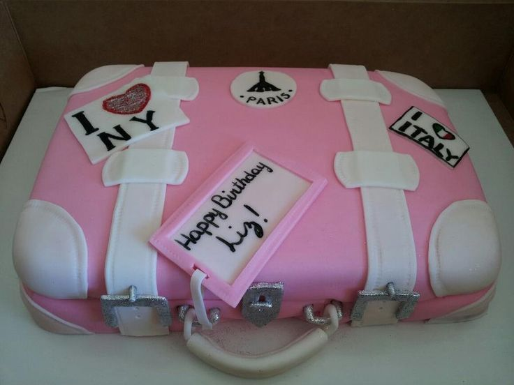 33 best Cakes images on Pinterest | Suitcase cake, Decorated cakes ...