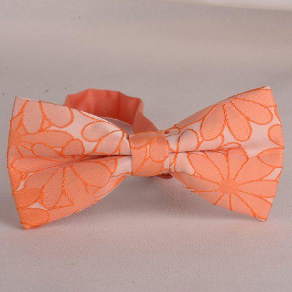Stylish Orange Sun Flowers Embroidery Double-Deck Bow Tie For Men #shoes, #jewelry, #women, #men, #hats, #watches, #belts