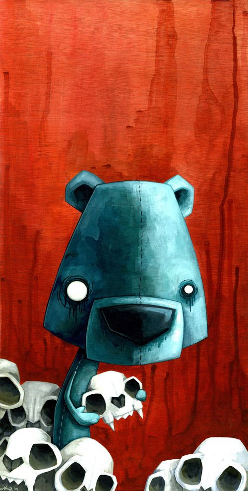 Bear Skull by, Megan Majewski.