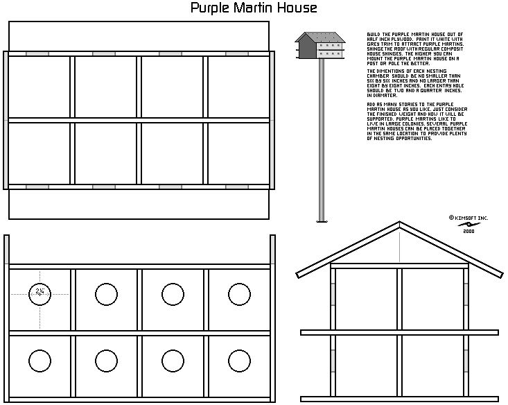 Diy purple martin house pole
