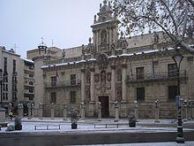 Valladolid: fachada barroca de la Universidad, hoy sede de la Facultad de Derecho.