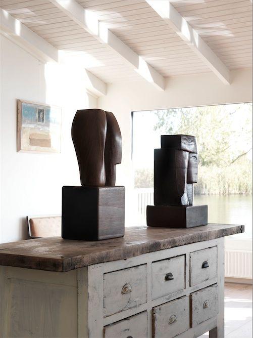 Mathieu Nab Sculptures I Modern Art Book I Photography by Frank Brandwijk I Interior 'Classic' 'Wood'