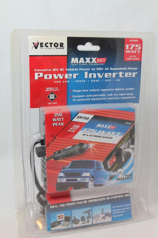 VECTOR Power Inverter VEC060 175 Watt Continuous 350 Watt Peak 110V Portable #Vector