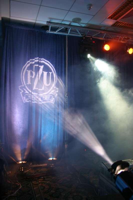 Digital projection of PZU logo (biggest Polish insurance company) by www.kameleon-light.pl