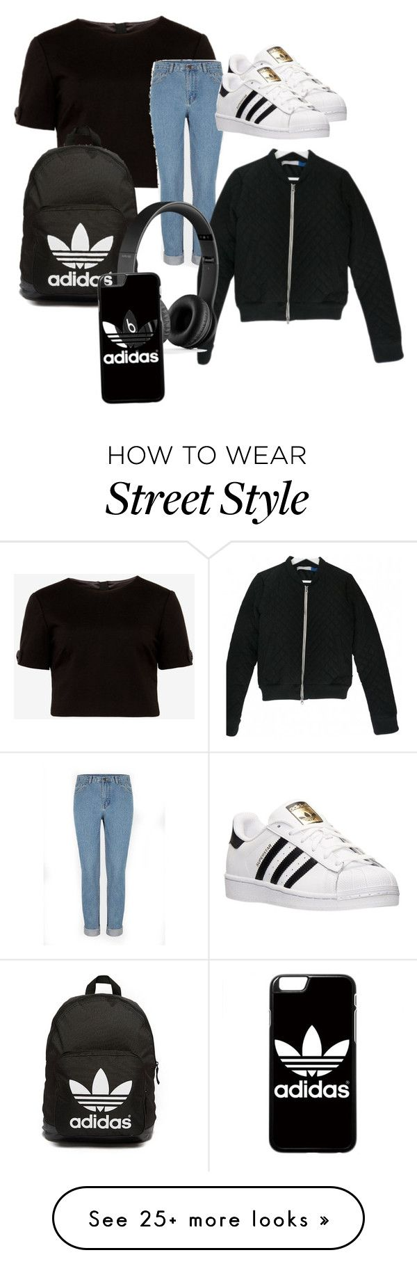 """STREET STYLE "" by floralaimee on Polyvore featuring Ted Baker, adidas, adidas Originals and Beats by Dr. Dre"