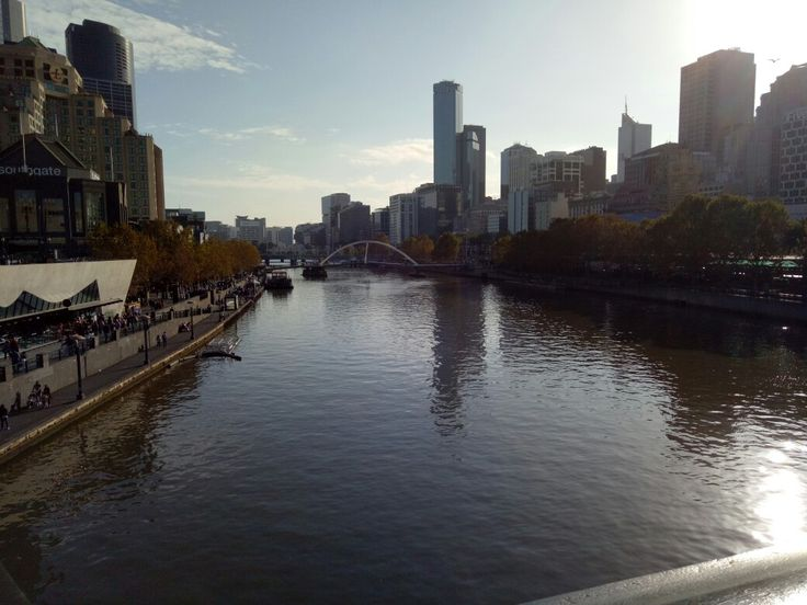 Overlooking the yarra
