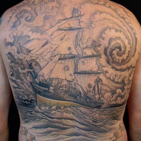 Tatuagem De Navio Pirata 7 Tatuagens Pinterest