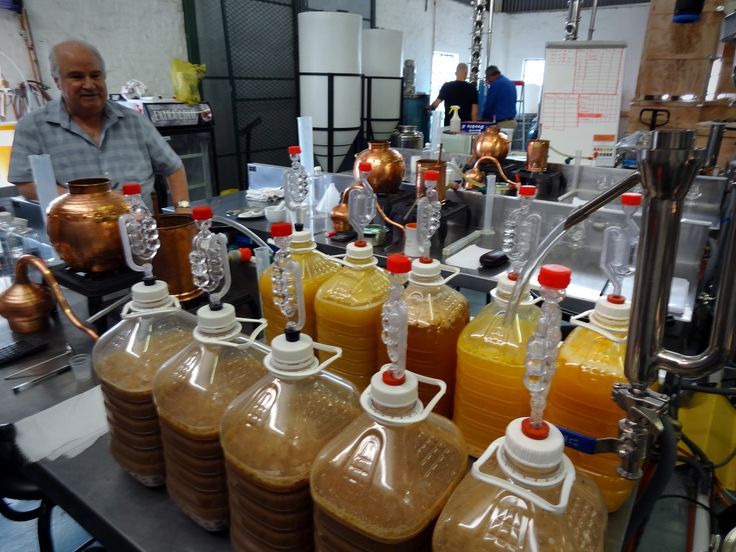 Fruit and Grain Fermentations made during the Distilling