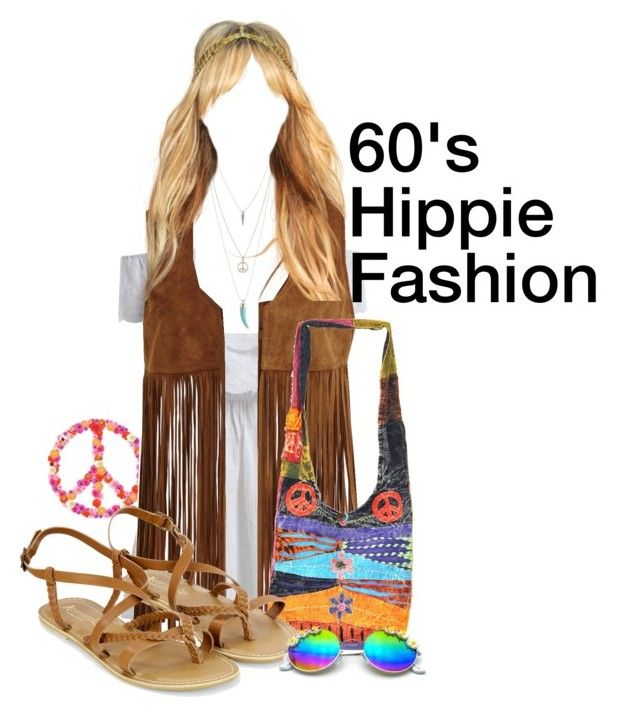 """60's Hippie Fashion"" by drake-max ❤ liked on Polyvore featuring VILA, Aéropostale, Accessorize, hippie, 60s, Hippies and 60sfashion"