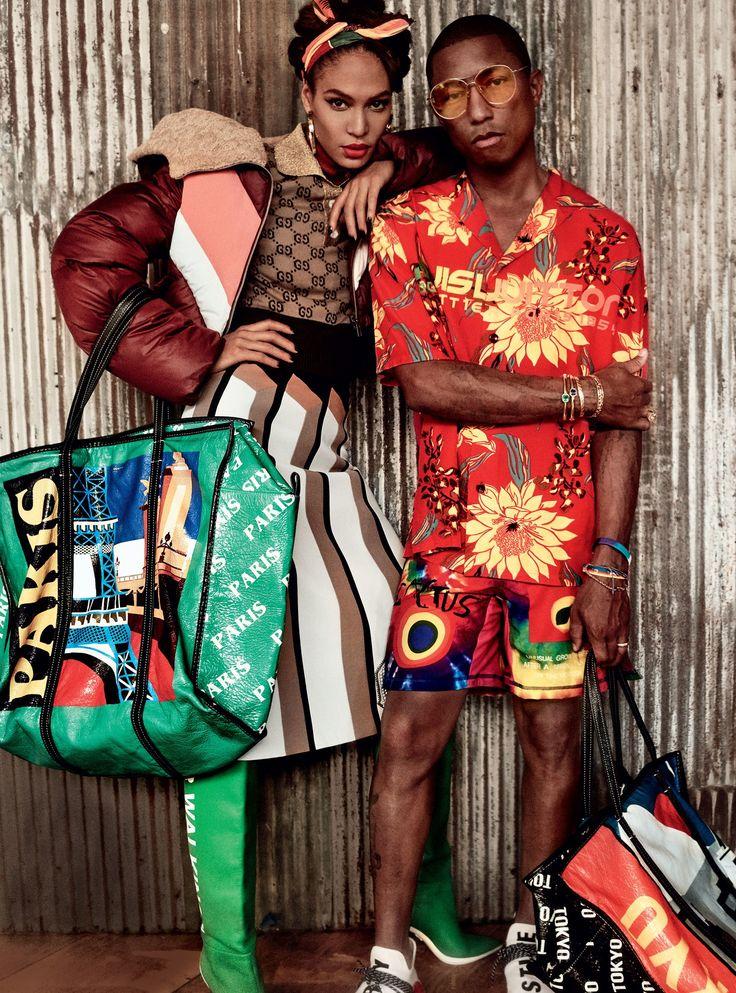 Pharrell Williams Vogue cover shoot