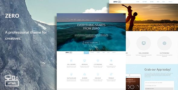 Zero - Responsive Multi-Purpose HTML Theme