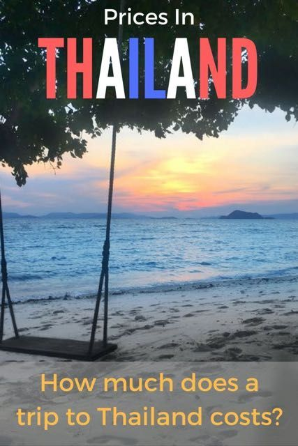 How much does a trip to Thailand cost? I will break down the prices in  Thailand and tell you the cost of living for transport, food, party,  tours, accommodation, sightseeing, flights, etc. #traveltomtom #thailand #prices #traveltips #accommodation #food #sightseeing #flights #living #travelgram #traveling #travelblogger #thailandvacation