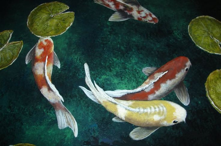 26 best images about koi art on pinterest print don for Koi fish pond art