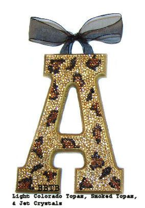 Swarovski Bling Nursery Wall Letter! Making this too!