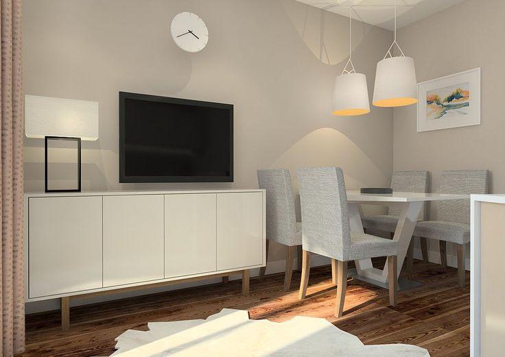 Кухня-гостиная в современном стиле в светлых тонах