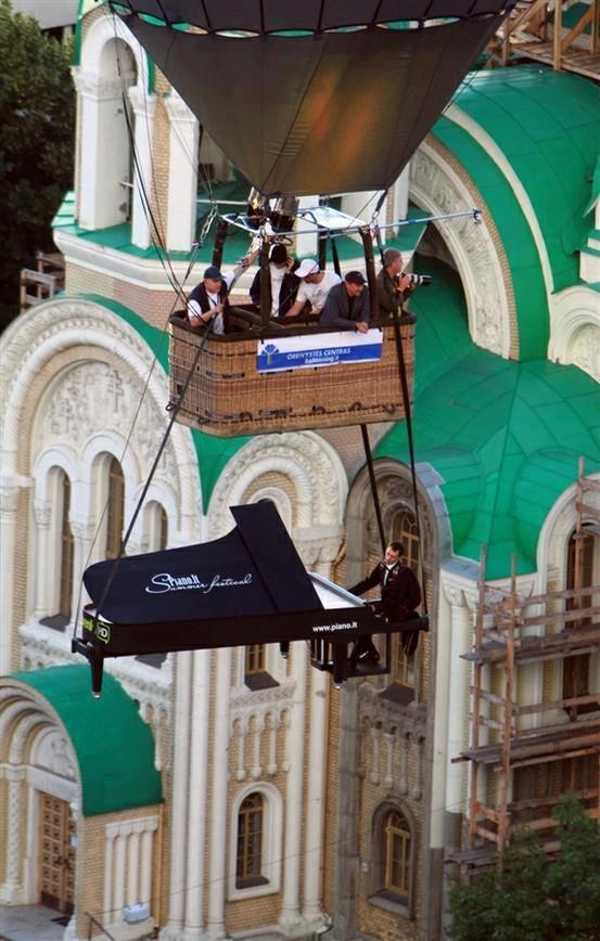hot air balloon piano for your wedding @Renée Alfonso Caldwell